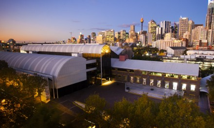 Time-lapse record of building and visitor activity on the Powerhouse Museum forecourt, shot from Level 7 at 579 Harris Street during the 2011-2013 Revitalisation Project. Exterior Powerhouse.