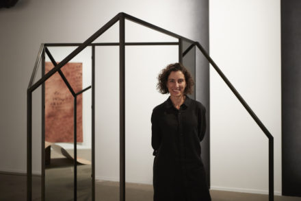 Consuelo Cavaniglia, Recipient, 2016 NSW Visual Arts Fellowship (Emerging), with Untitled and Untitled (simultaneous spaces), 2016, installation view, Artspace, Sydney. Courtesy the artist. Photo: Zan Wimberley.