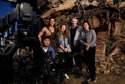 Legend of Sun and Moon (left to right):Danny CHEN (DOP), Shawn DOU (Lead Cast), Eva JIN (Director), Todd Fellman (Producer), Eileen GONG (Producer).