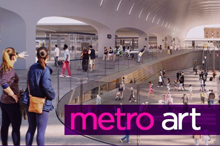 Artist impression of Central Station - Metro Art