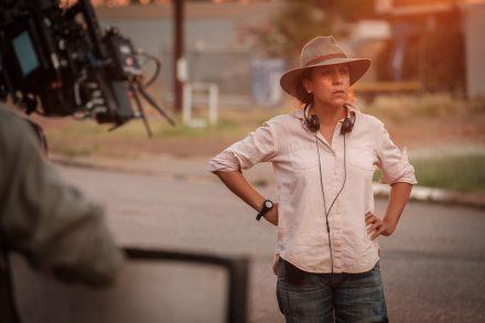 Rachel Perkins on the set of Mystery Road. Photo: John Platt