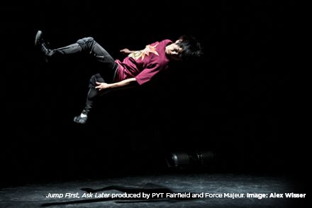 Jump First, Ask Later produced by PYT Fairfield and Force Majeur. Image: Alex Wisser.