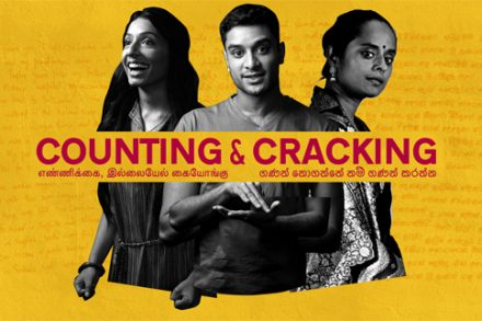 Counting and Cracking poster from Sydney Festival. Photo by Daniel Boud and Malith Hegoda.