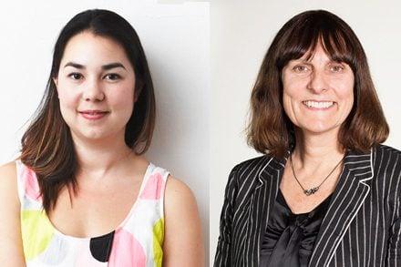 Venice Biennale mentors. L-R: Mikala Tai, Jasmin Stephens.