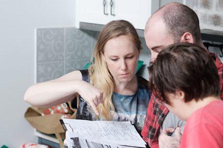 Nicole Delprado behind-the-scenes, Magnetic. Photo by Clare Hawley.