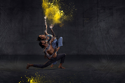 30 years of sixty five thousand, Rika Hamaguchi and Tyrel Dulvarie, Bangarra Dance Theatre. Photo by Daniel Boud.