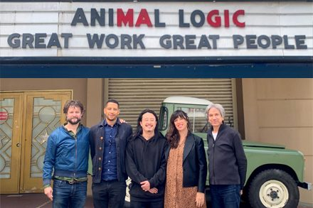 Create NSW and Animal Logic Artist in Residence. L-R: Ben Quilty, Aemmon Sheehan, Jason Phu, Técha Noble and Zareh Nalbandian.