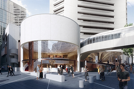 Artist's impression of the Theatre Royal, MLC Centre (view from King Street). Indicative image subject to change.