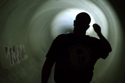 Ghosthunter, Ben Lawrence CCTV. Photo by Hugh Miller.