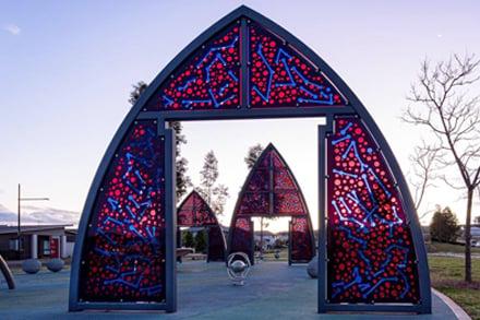 Gates of Light, Khaled Sabsabi, Campbelltown, Australia, 2014. Image: Create NSW
