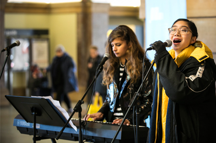Create NSW Make Music Day 2019, EORA College at Grand Concourse, Central Station. Image by Create NSW.